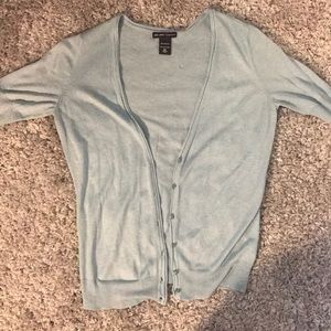 Light Blue Button Front Cardigan Sweater